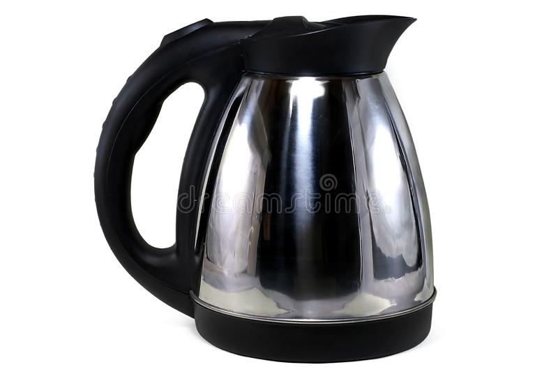 Kettle isolated on white stock images