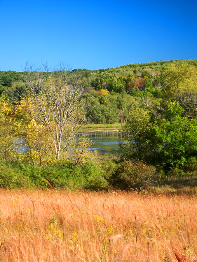 Kettle Moraine State Forest Wisconsin. Lake La Grange of the Kettle Moraine State Forest in Wisconsin royalty free stock photography