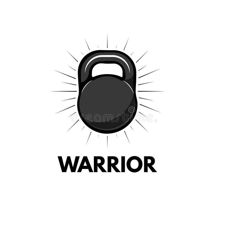 Kettlebell fitness badge. Sport equipment. Weight. Vector. royalty free illustration