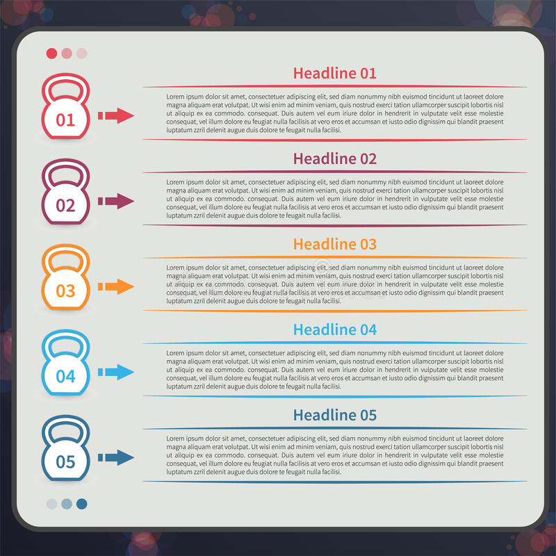Kettlebell infographic, срок иллюстрация вектора