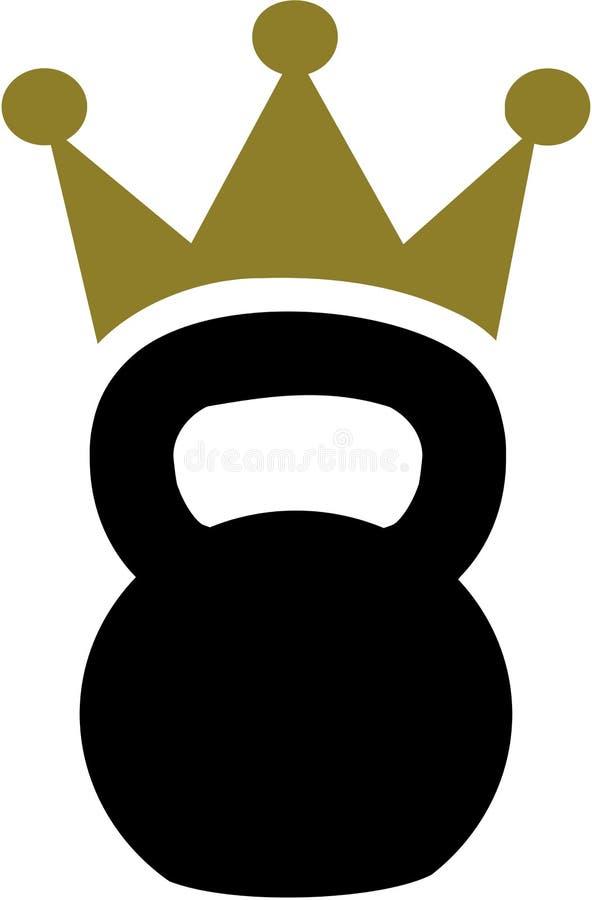 Kettlebell mit Krone lizenzfreie abbildung