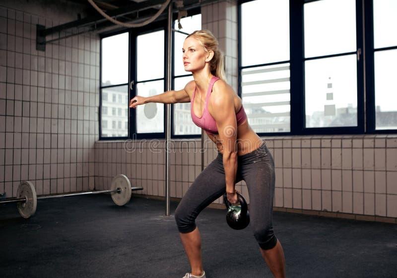 Kettlebell Workout stock photos