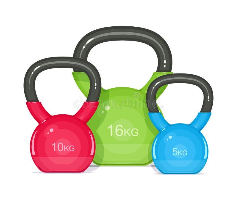 Kettlebells 健身的设备 库存例证
