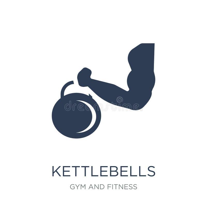 Kettlebells icon. Trendy flat vector Kettlebells icon on white b vector illustration