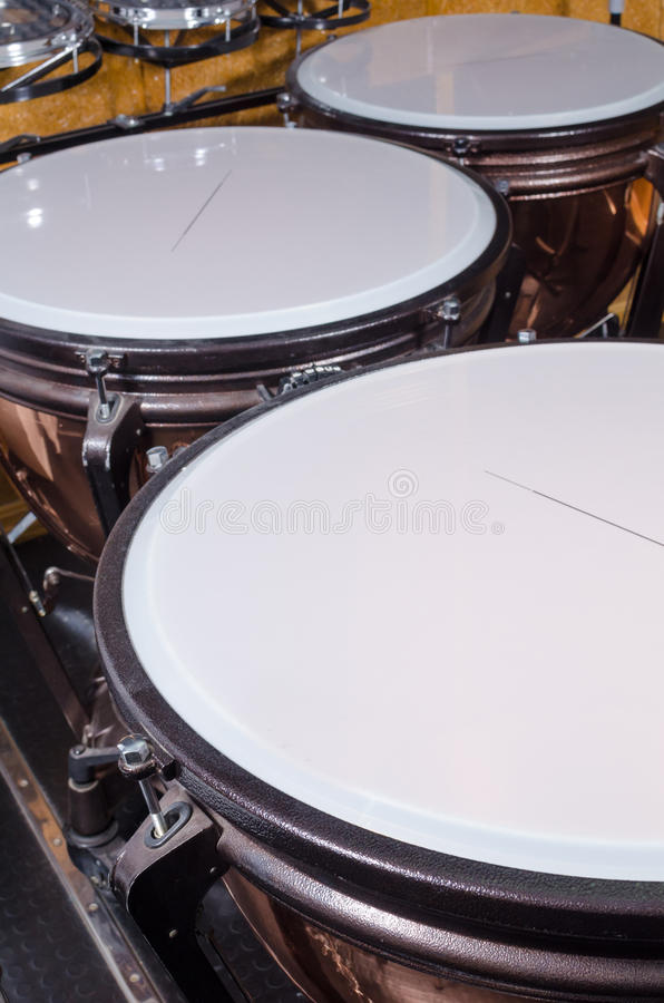 Kettledrums assorted royalty free stock image