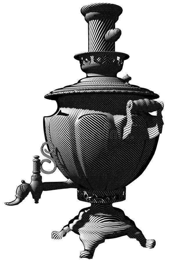 kettlerysssamovar royaltyfri bild