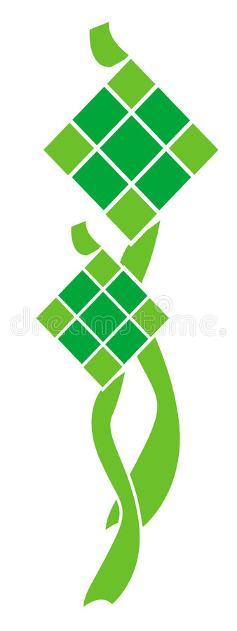 ketupat ilustracji