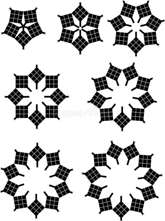 Ketupat B/W ilustração stock