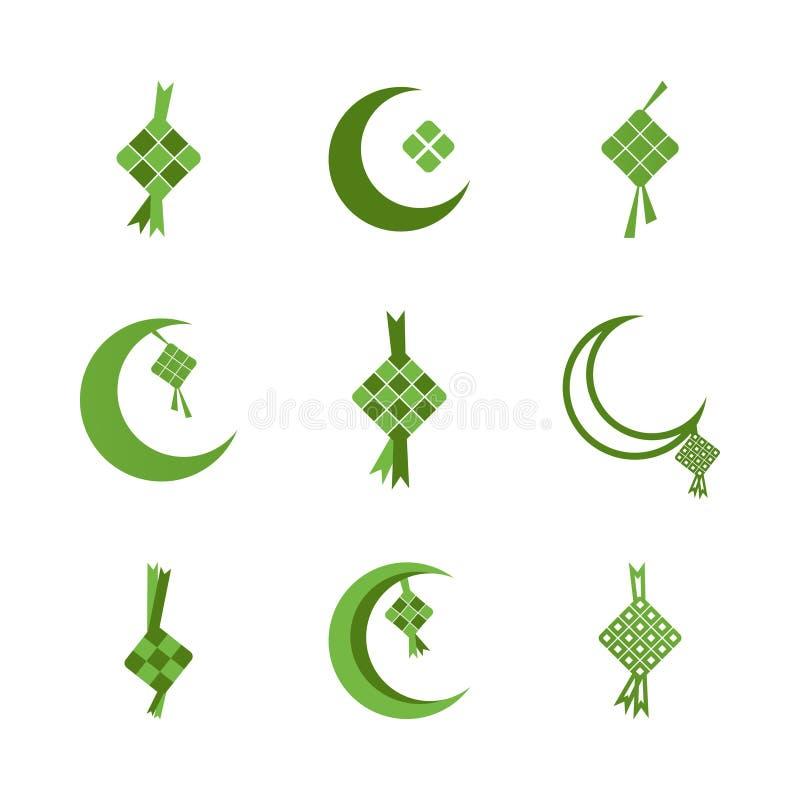 Ketupat eid al fitr Ramadan ilustracja royalty ilustracja