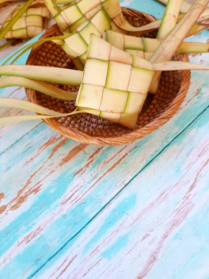 Ketupat malezyjczyka jedzenie zdjęcia stock
