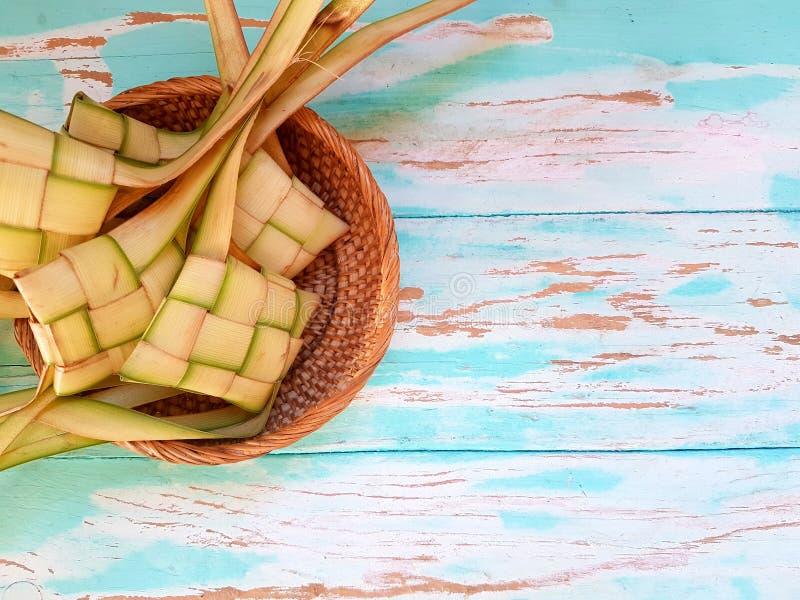 Ketupat malezyjczyka jedzenie zdjęcia royalty free