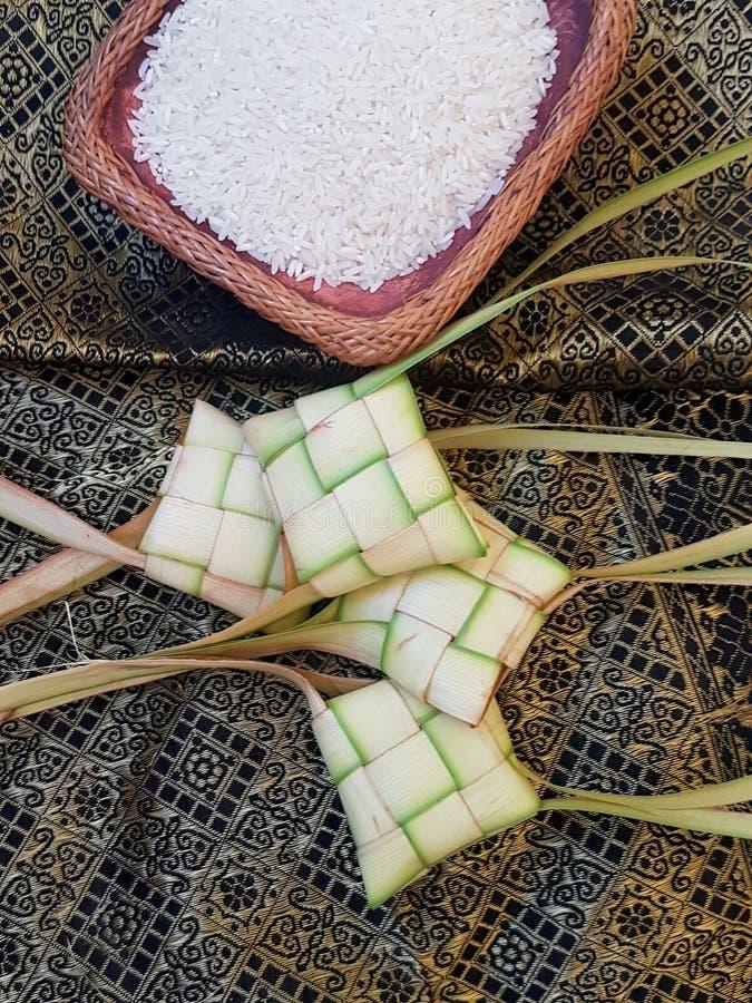 Ketupat ryż i opakowanie zdjęcia royalty free
