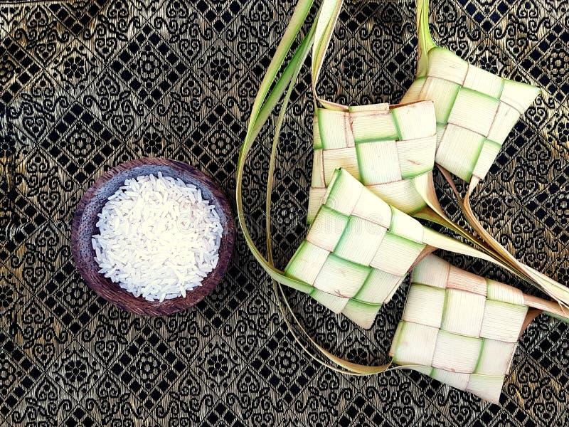 Ketupat ryż i opakowanie zdjęcie royalty free