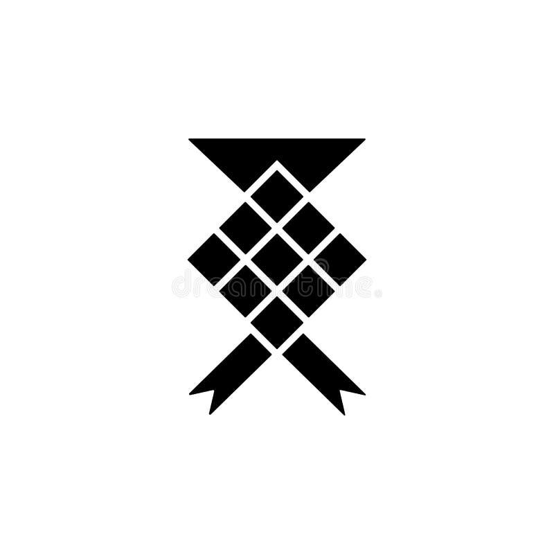ketupatsymbol Best?ndsdel av den ramadan symbolen H?gv?rdig kvalitets- symbol f?r grafisk design Tecken och symbolsamlingssymbol  royaltyfri illustrationer