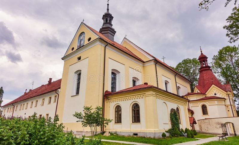 KETY, POLAND: Franciscan monastery. The church was consecrated on October 4, 1714. The faithful come to the chapel in order to obt. Ain indulgence royalty free stock photos
