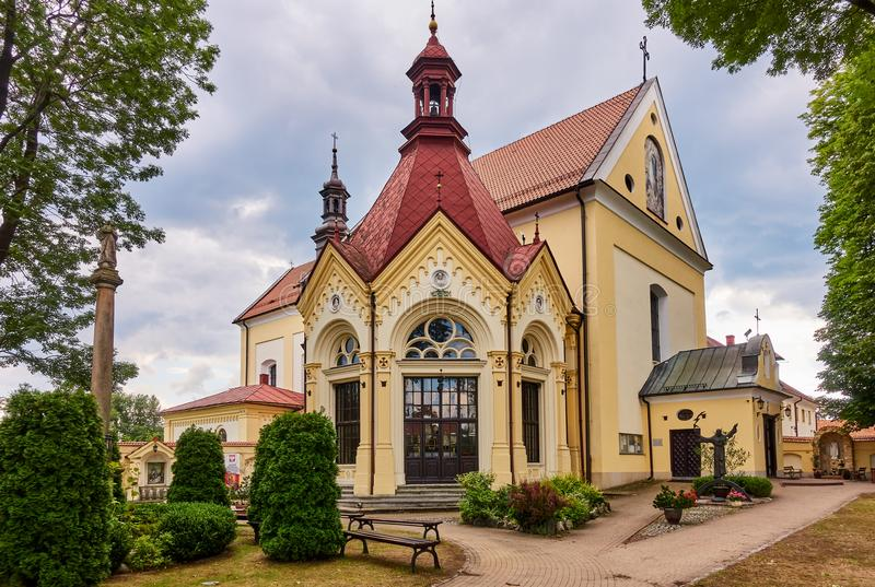 KETY, POLAND: Franciscan monastery. The church was consecrated on October 4, 1714. The faithful come to the chapel in order to obt. Ain indulgence stock photo