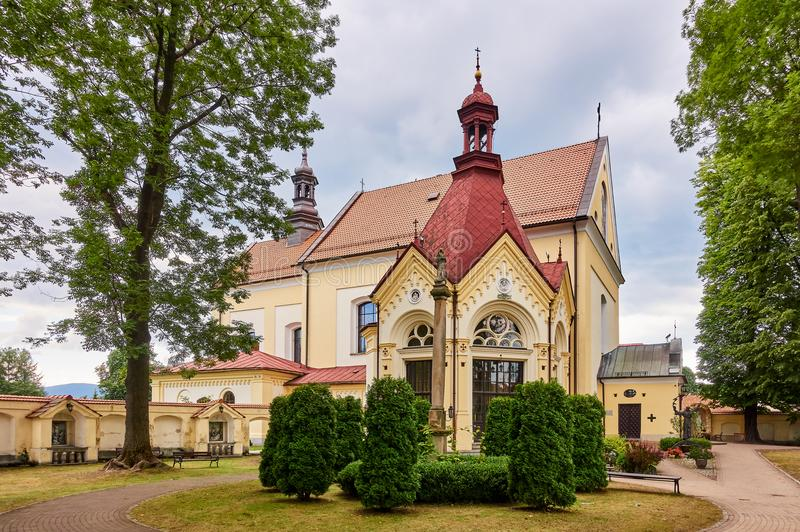 KETY, POLAND: Franciscan monastery. The church was consecrated on October 4, 1714. The faithful come to the chapel in order to obt. Ain indulgence royalty free stock image