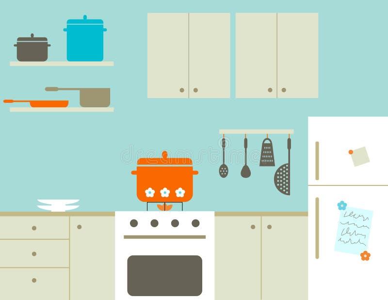 Keuken royalty-vrije illustratie