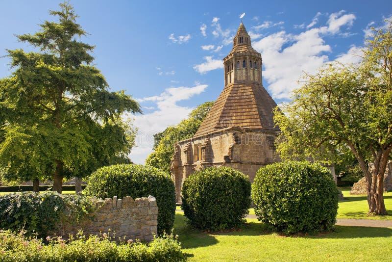 Keuken abt van Glastonbury-Abdij, Somerset, Engeland stock fotografie