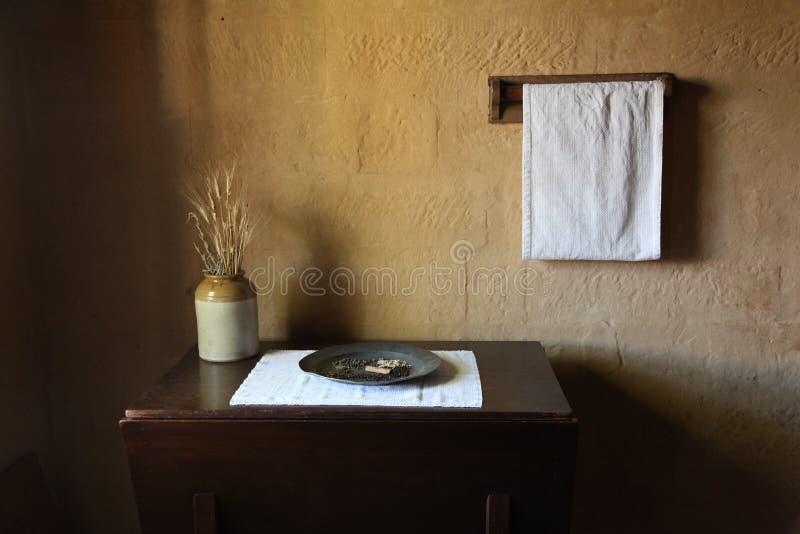 Keuken in Elizabeth Farm House stock afbeeldingen