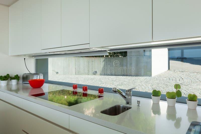 Keuken, fornuisbovenkant stock foto