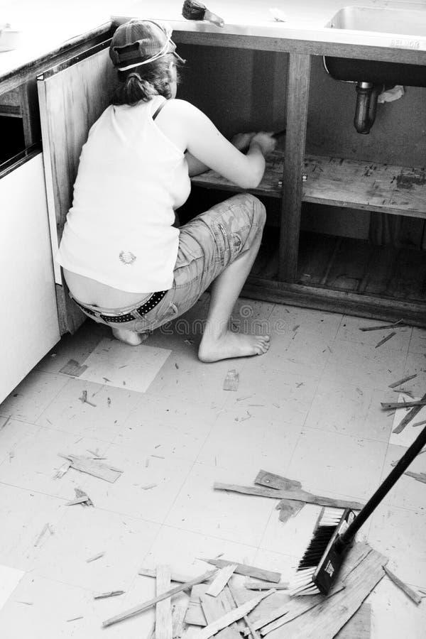 Keuken makeover stock foto