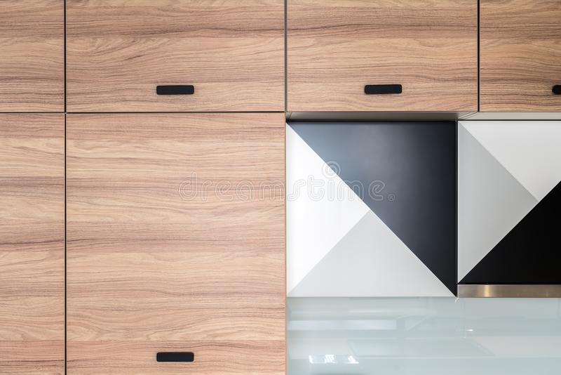 Keuken in moderne stijl stock foto