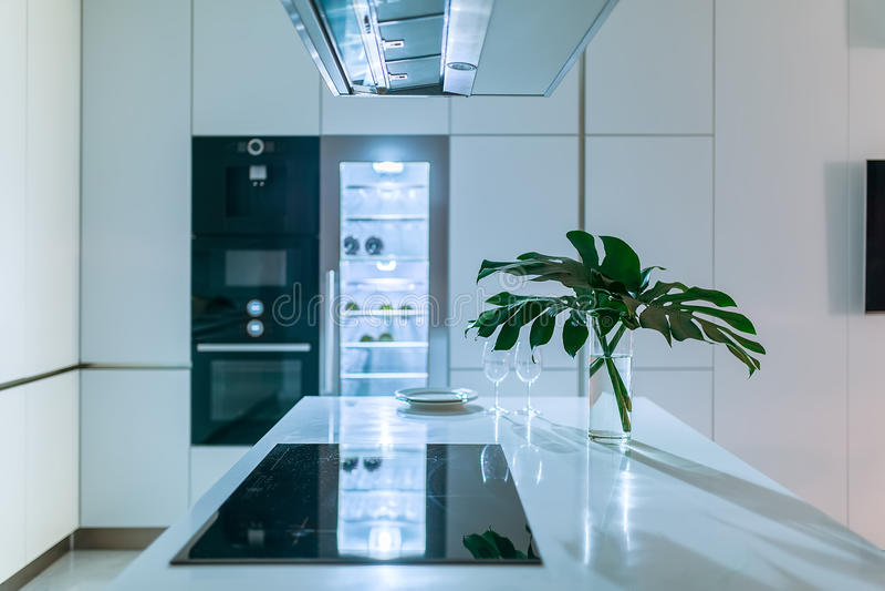 Keuken in moderne stijl royalty-vrije stock afbeelding