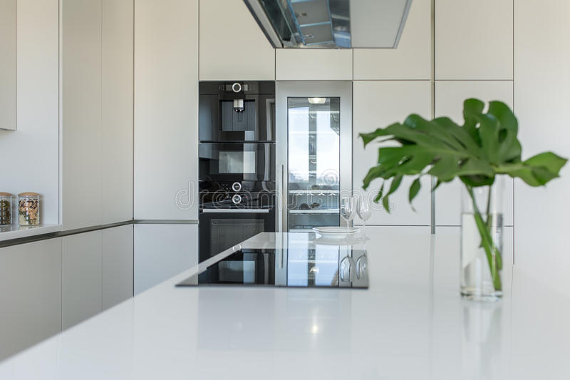 Keuken in moderne stijl royalty-vrije stock afbeeldingen