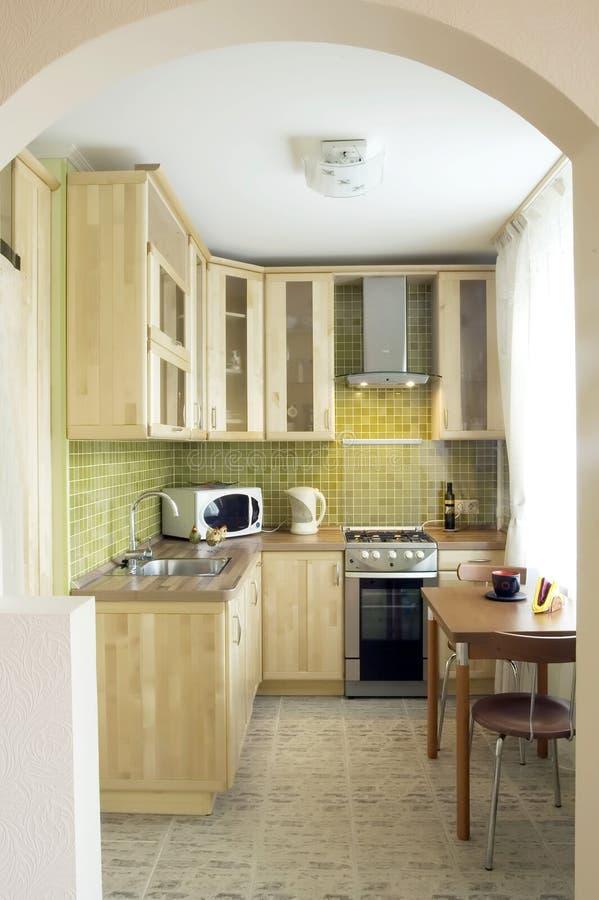 Keuken - slim ontwerp stock foto