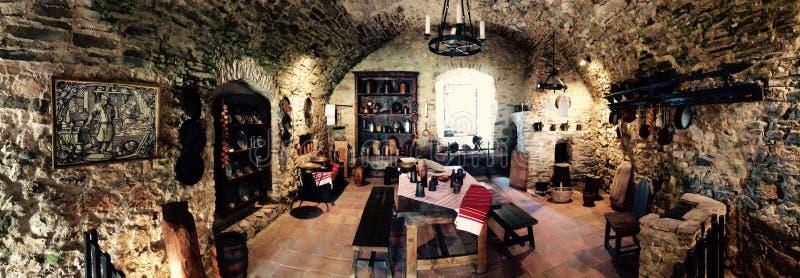 Keuken in Spis-Kasteel royalty-vrije stock afbeeldingen