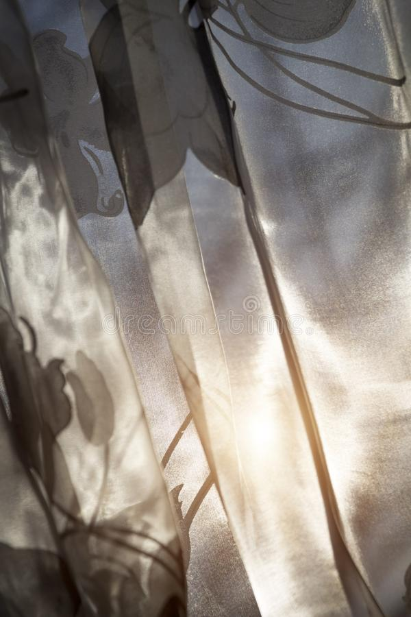 Keuken transparant gordijn stock afbeelding