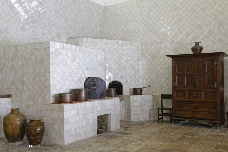 Keuken van Paleis van Sintra stock foto