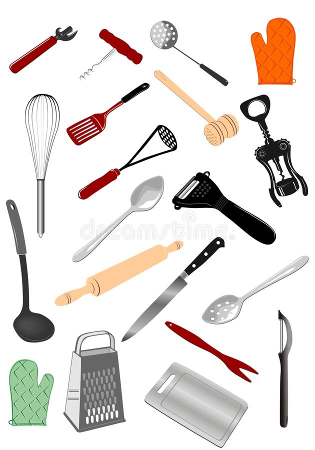 Keukengereedschap royalty-vrije illustratie
