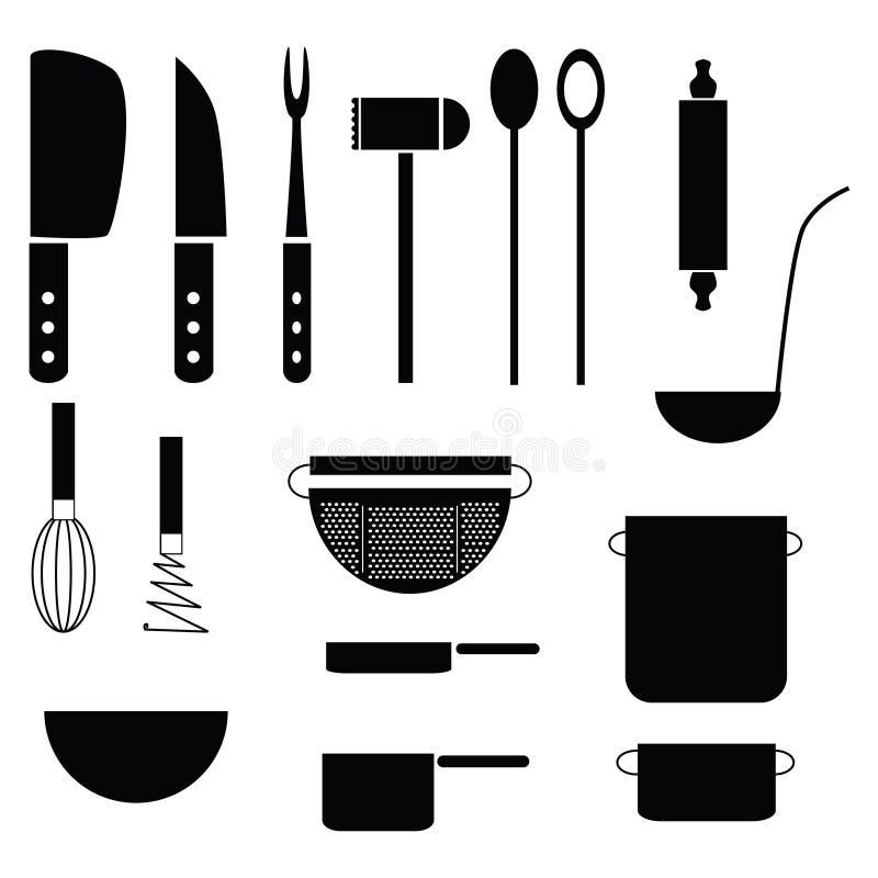 Keukengereedschap stock illustratie