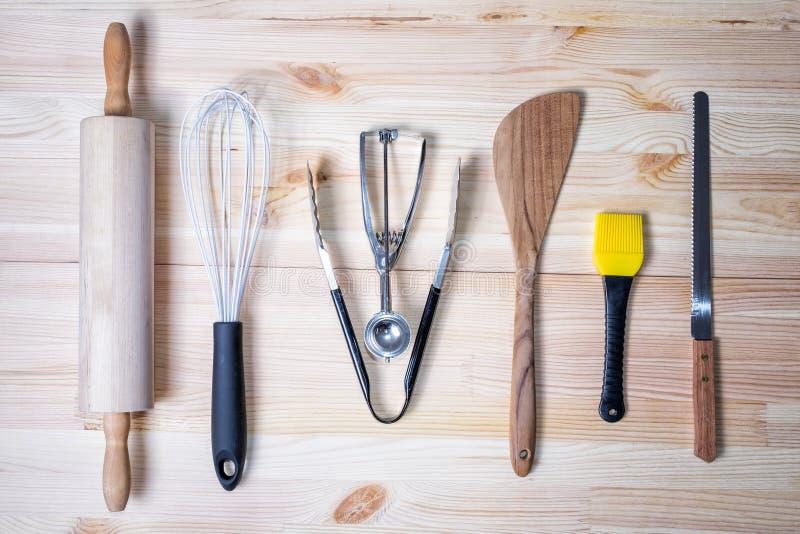 Keukengereedschap voor baksel stock fotografie