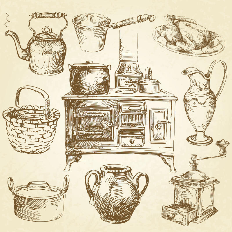 Keukengerei royalty-vrije illustratie