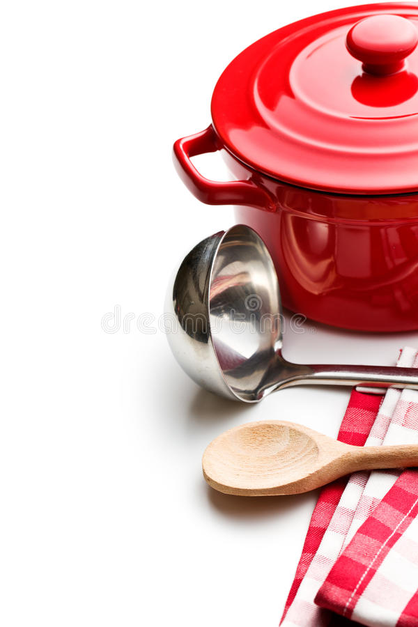 Download Keukengerei Op Witte Achtergrond Stock Foto - Afbeelding bestaande uit voedsel, groep: 29501534