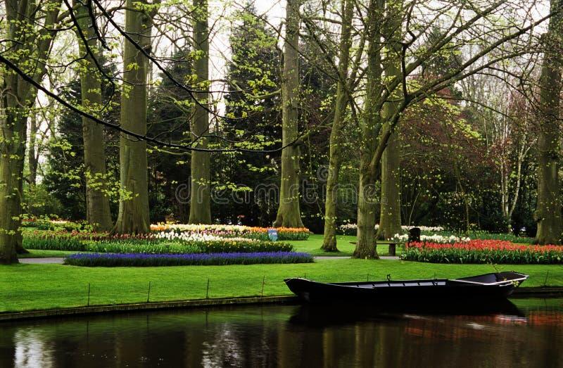 Keukenhof Boat stock image