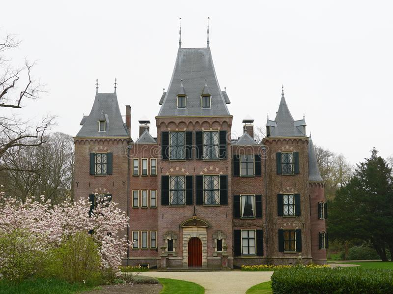 Keukenhof castle in the Netherlands. royalty free stock images