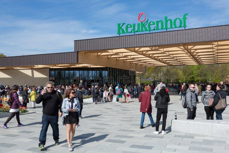 Keukenhof entrance building, Lisse, The Netherlands stock photography