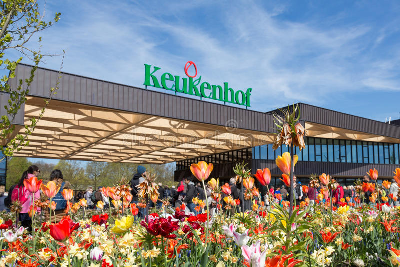 Keukenhof entrance building, Lisse, The Netherlands royalty free stock image