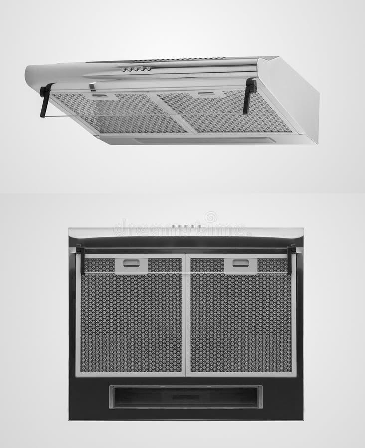 Keukenkap op een witte achtergrond stock afbeeldingen