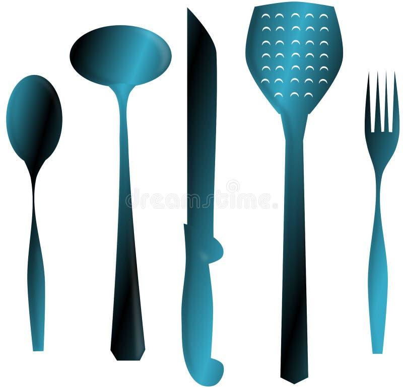 Keukenmateriaal stock illustratie