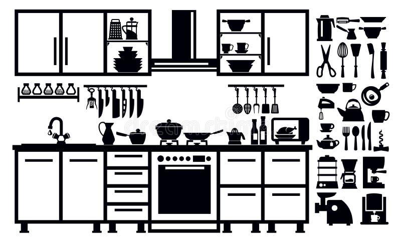 Keukenpictogram vector illustratie