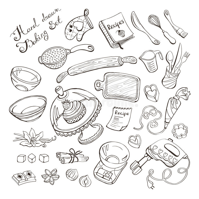 Keukenpunten voor baksel royalty-vrije illustratie