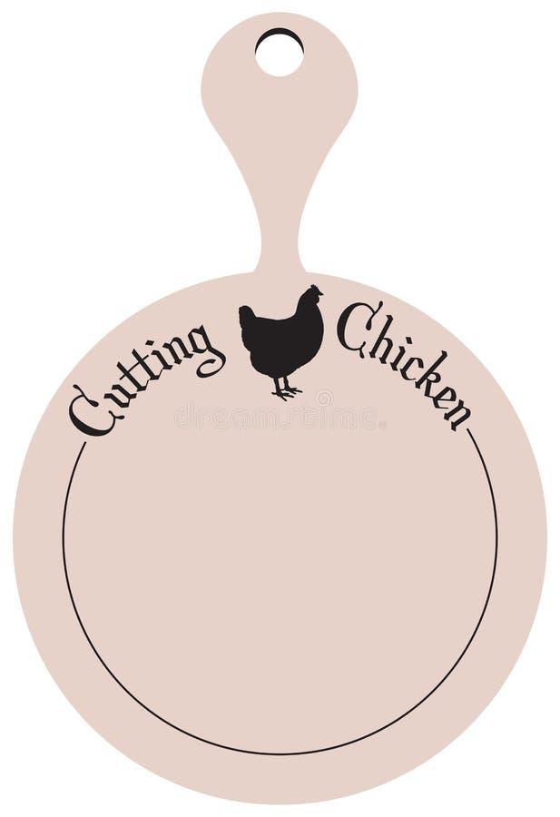 Keukenraad voor scherpe kip vector illustratie