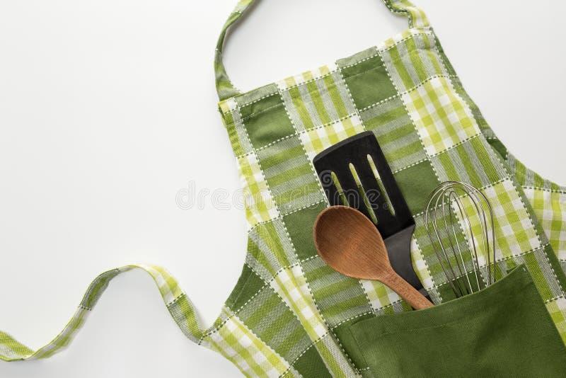 Keukenschort stock fotografie