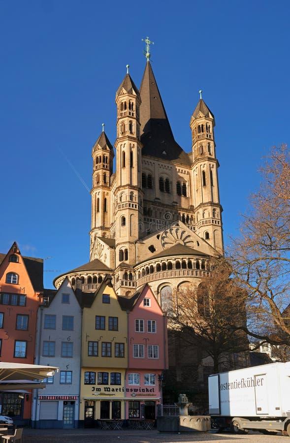 Keulen, Duitsland - Januari 19, 2017: Kerk van Brutost Martin royalty-vrije stock foto's