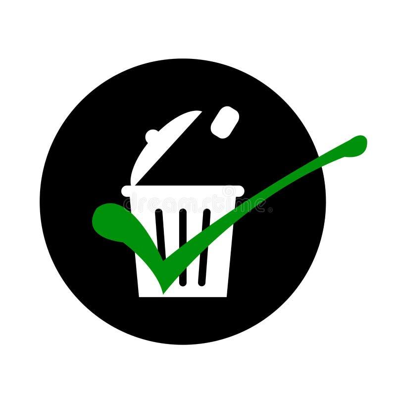 Keur de correcte regel van de afvalverwijdering goed vector illustratie